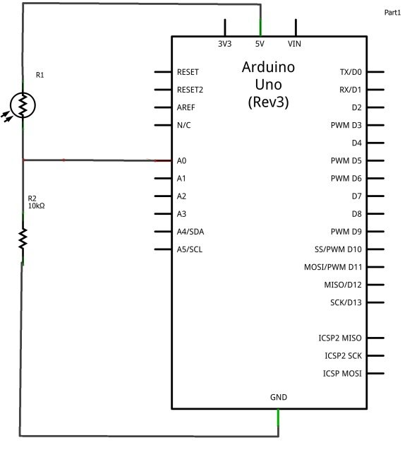 arduino and photoresistor example