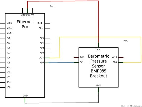 ethernet and bmp085 schematic