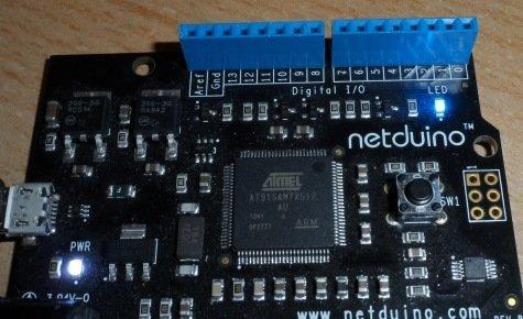 netduino led flashing