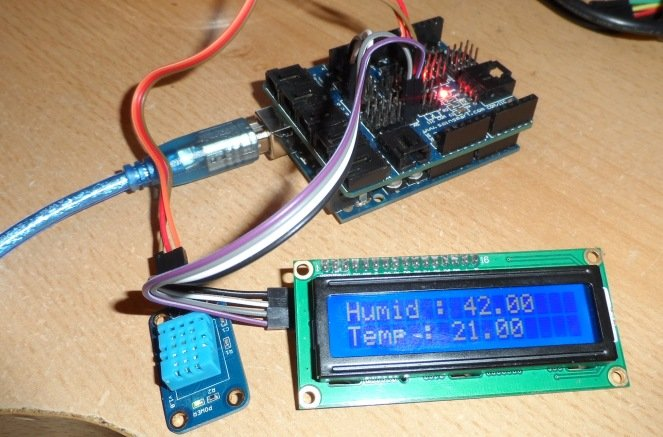 dh11 and i2c lcd