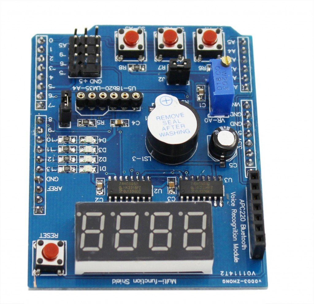 Arduino multi function shield get micros