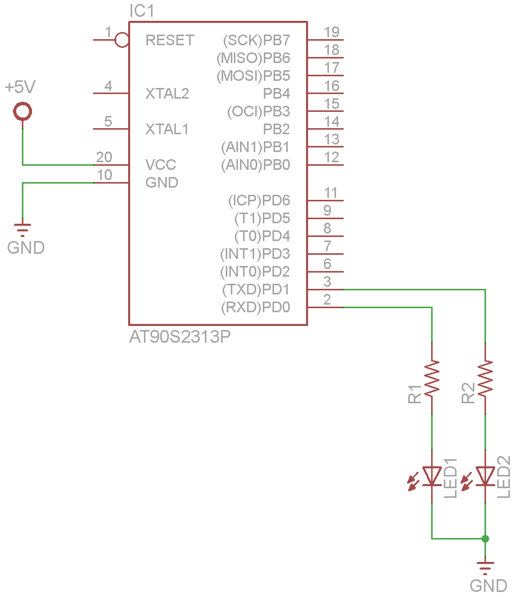 attiny2313 and leds