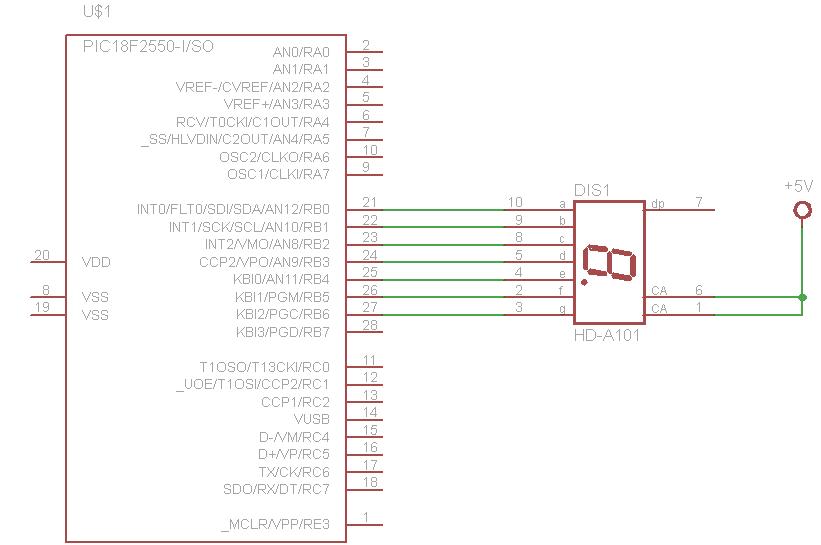 pic18f2550 and seven segment