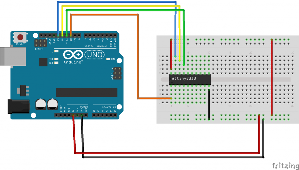 Arduino to atttiny2313