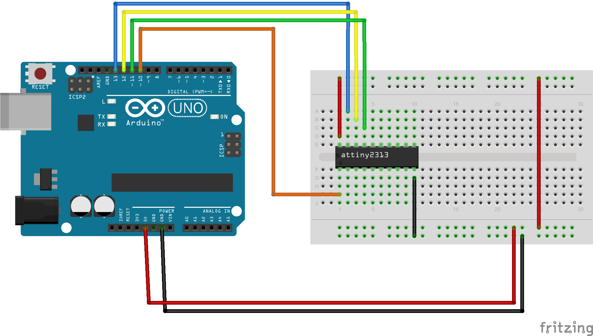 Program your attiny with an arduino get micros