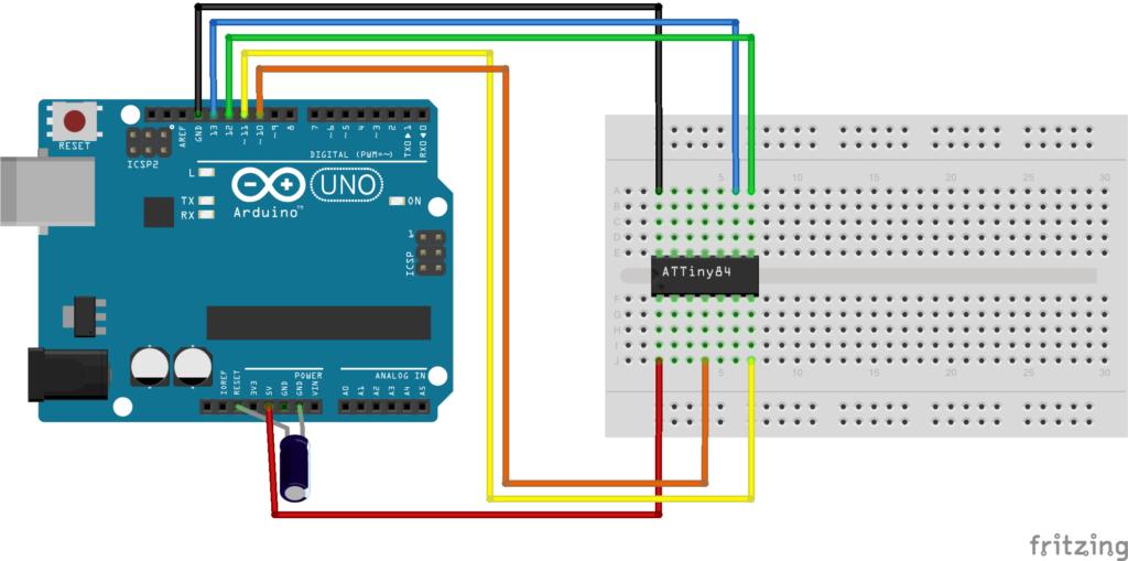 Arduino to atttiny44