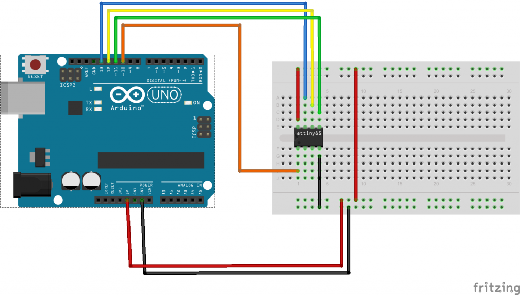 Arduino to atttiny85