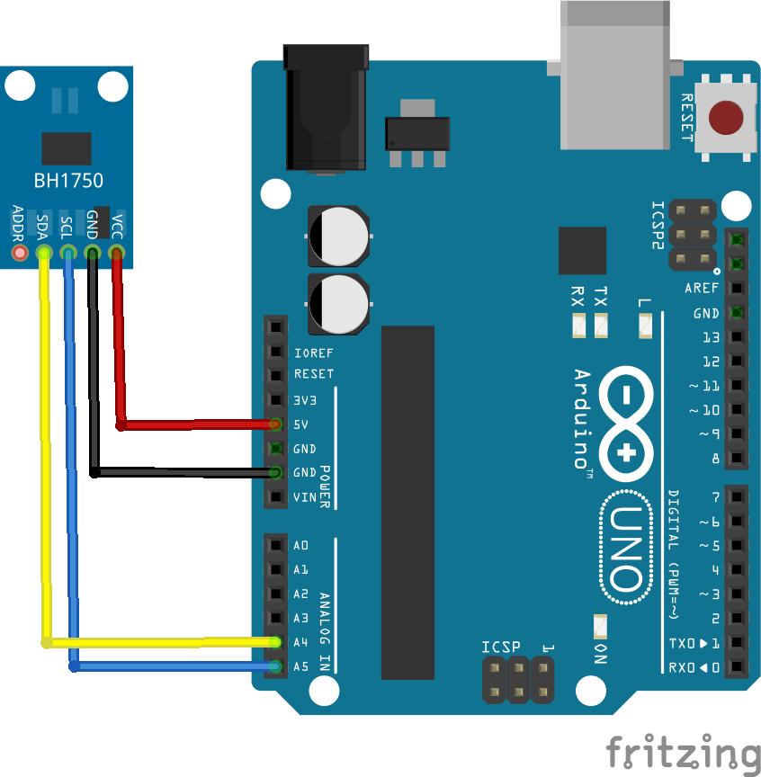 Connect the bh sensor to an arduino get micros
