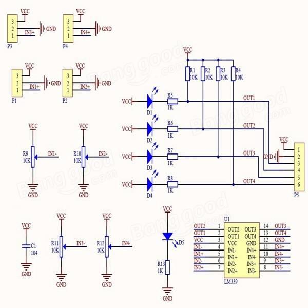 Arduino 4 channel line tracker sensor example – Get micros