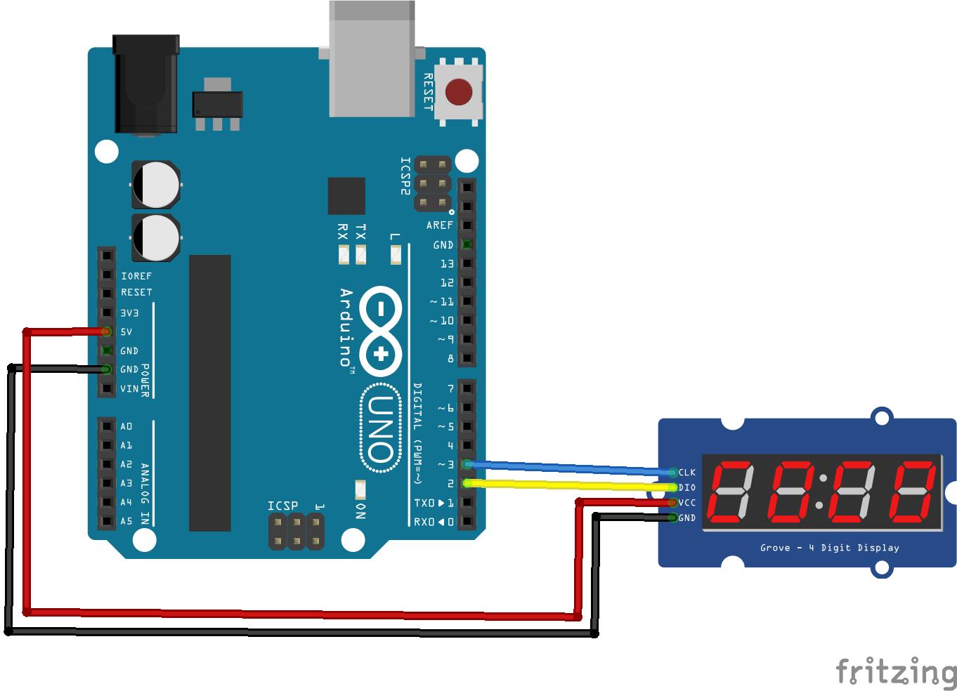 B r arduino tm segment display example get micros