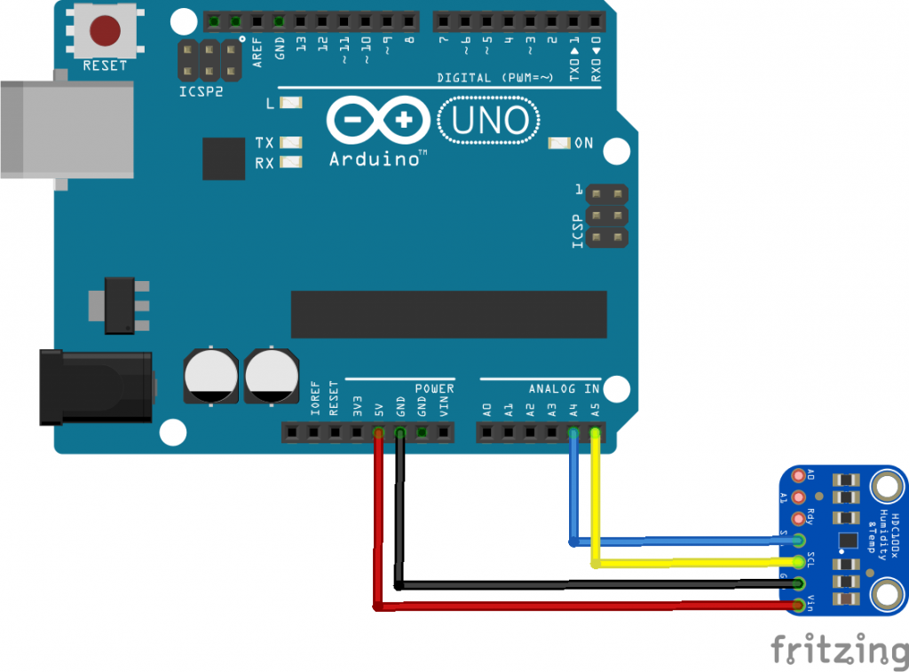 arduino and hdc1008