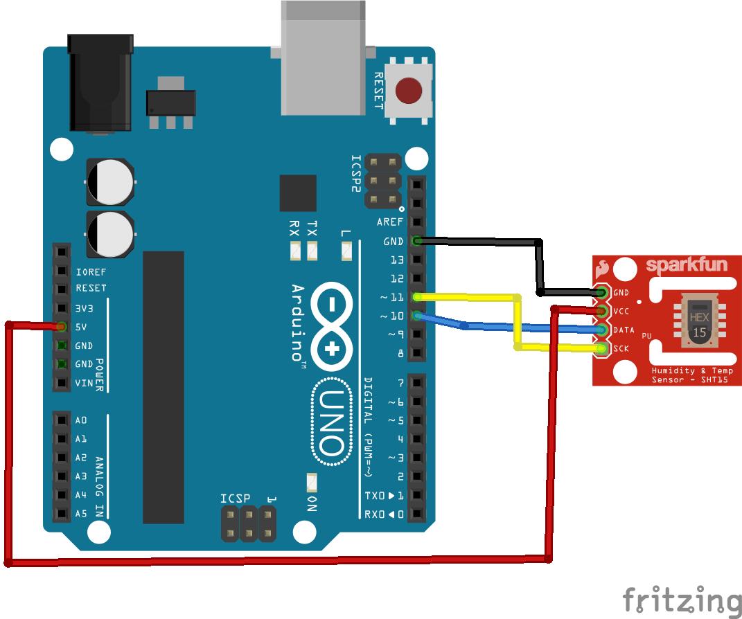 B4r Arduino And Sht11 Digital Humidity Sensor Example Get Micros