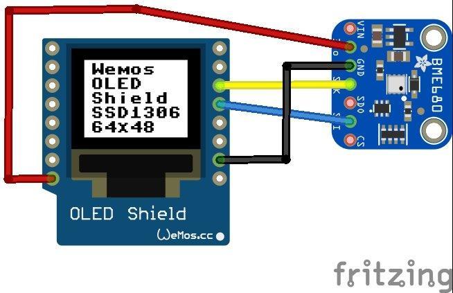 BME680 environmental sensor with a Wemos Mini | Get micros