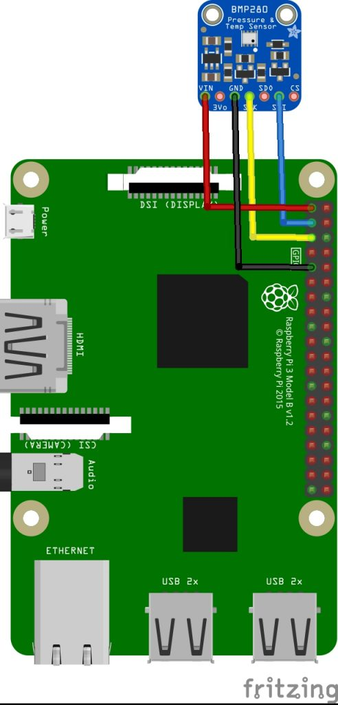 raspberry pi and bmp280